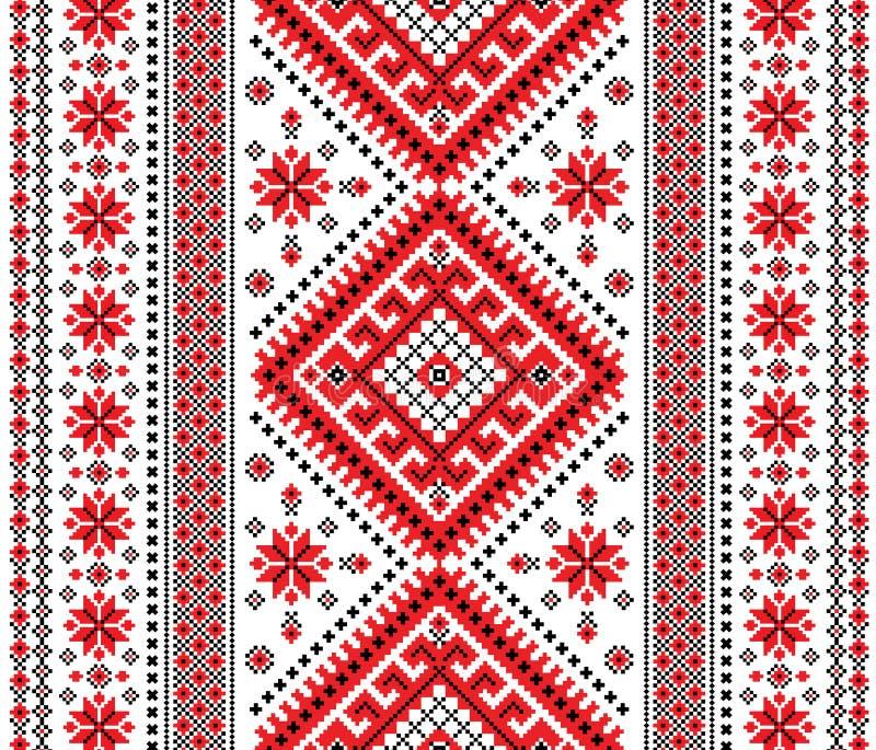 Украинский орнамент иллюстрация вектора