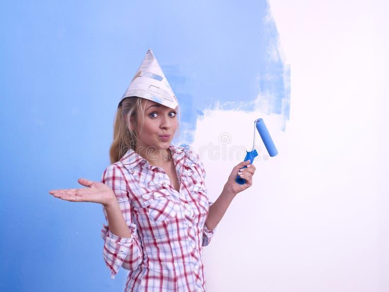 украшать женщину стены стоковое фото rf
