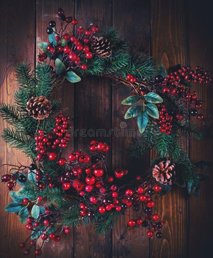 Download Украшение венка рождества стоковое изображение. изображение насчитывающей празднично - 81806645