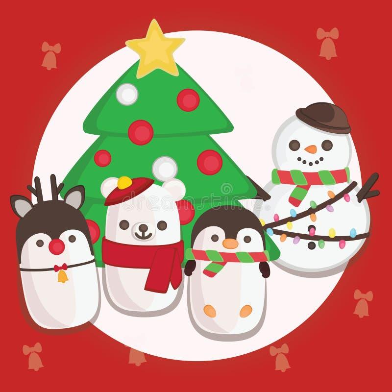 Украшение веселого рождества иллюстрация штока