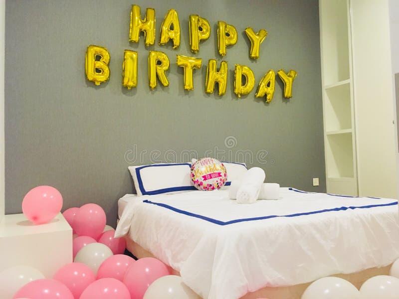 украшение дня рождения счастливое стоковые изображения rf