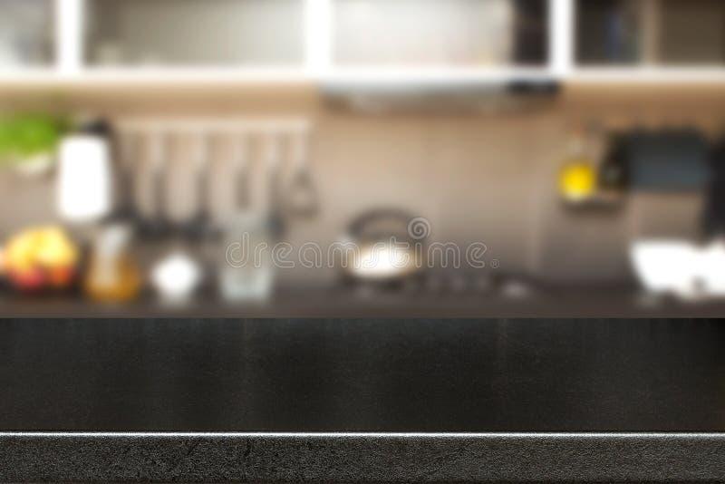 Украшение кухни и космос стола стоковая фотография rf