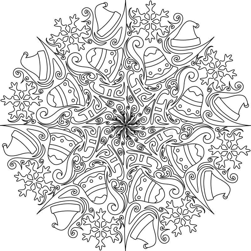 Украшение мандалы рождества стоковое фото