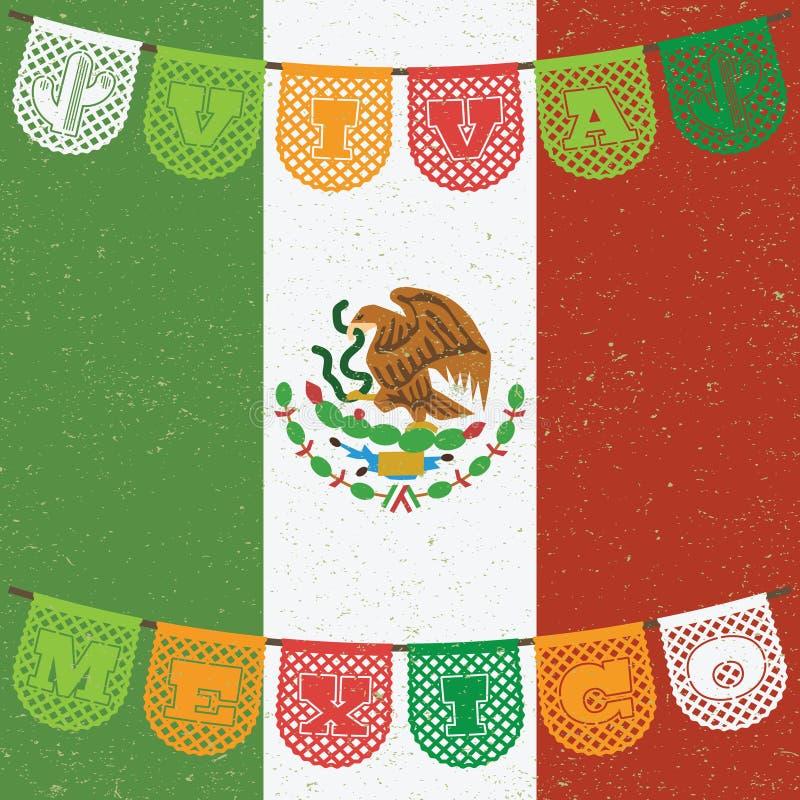 Украшение мексиканского флага иллюстрация штока