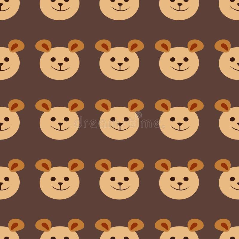 Украшение младенца ткани шаржа иллюстрации безшовного дизайна картины вектора картины плюшевого медвежонка животное иллюстрация вектора