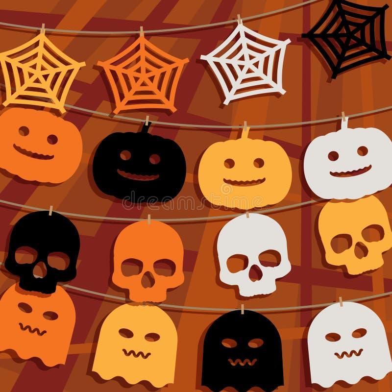 Украшение овсянки хеллоуина бесплатная иллюстрация