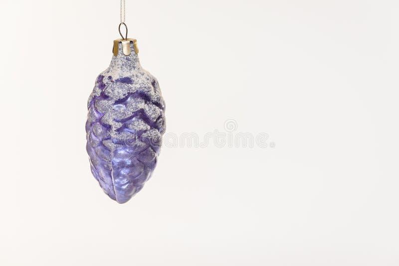 Украшение панкреаса голубого рождества стеклянное стоковая фотография rf