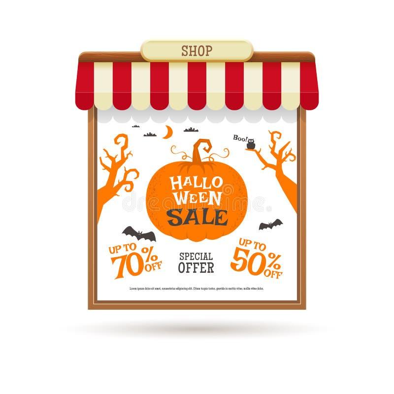 Украшение продажи хеллоуина иллюстрация вектора