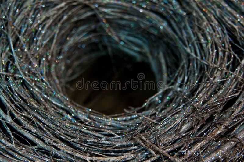 Украшение рождества блестящего гнезда ветвей стоковое изображение rf