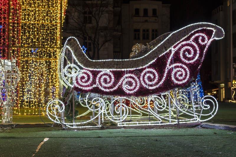 Украшение рождества - скелетон светов рождества стоковые изображения rf
