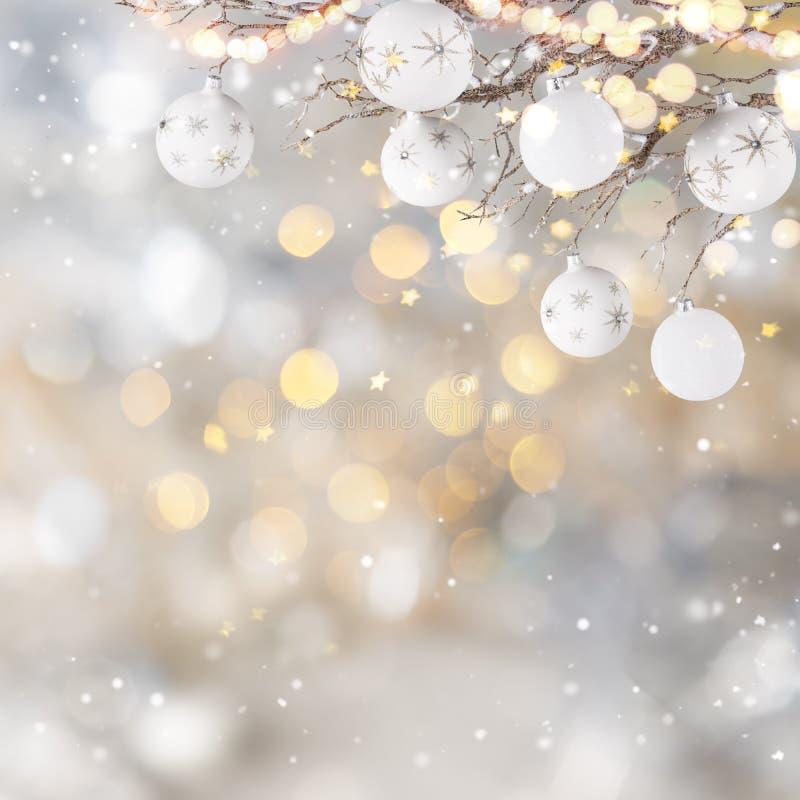 Украшение рождества с запачканной предпосылкой стоковые фотографии rf
