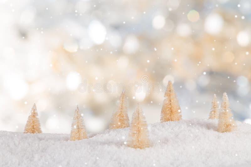 Украшение рождества с запачканной предпосылкой стоковые изображения rf