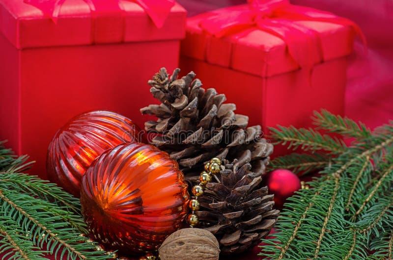 Украшение рождества с настоящими моментами стоковая фотография rf