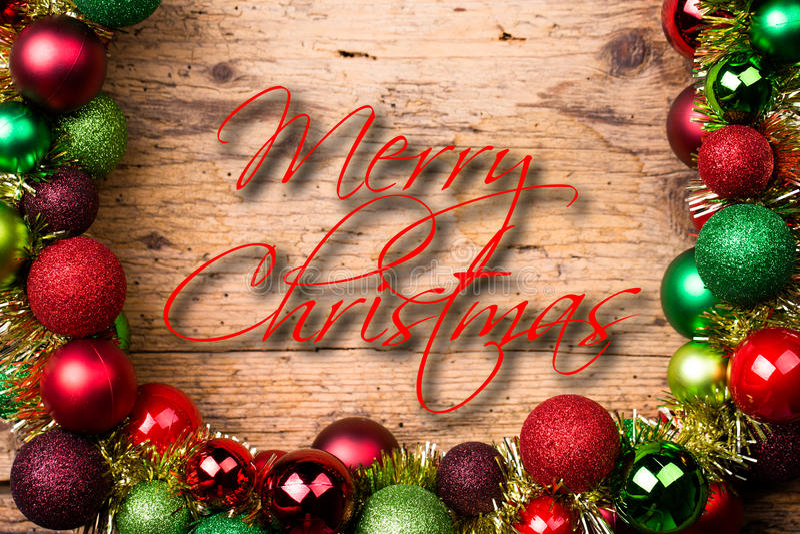 Украшение рождества на деревянной предпосылке стоковое изображение