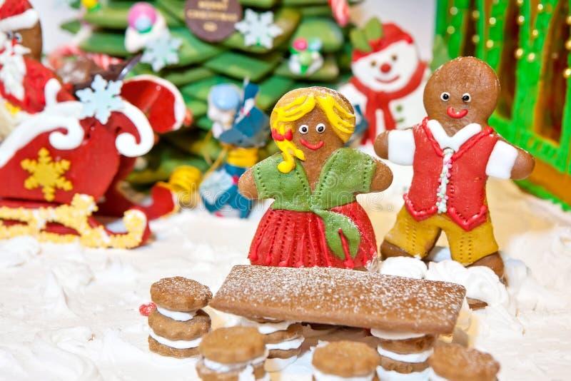 Украшение рождества пряника стоковое фото rf