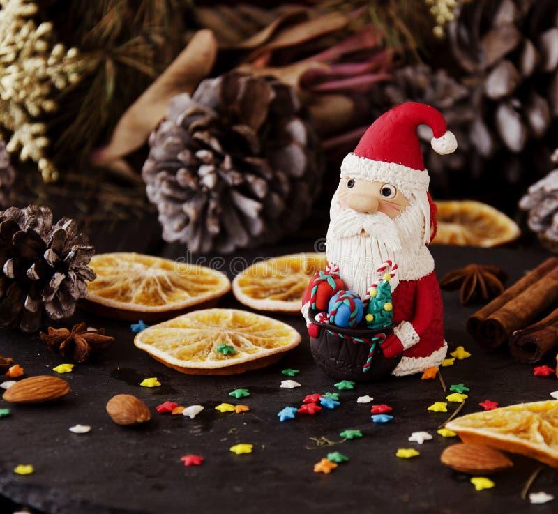 Украшение рождества с ветвями ели стоковые изображения