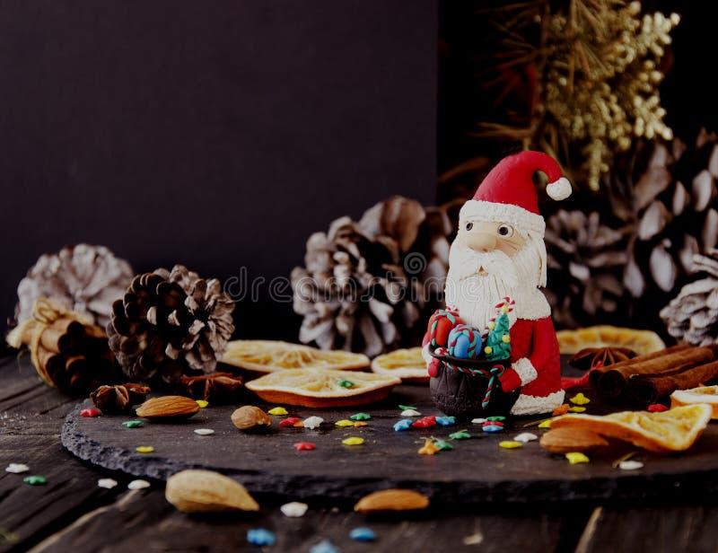 Украшение рождества с ветвями ели стоковая фотография rf