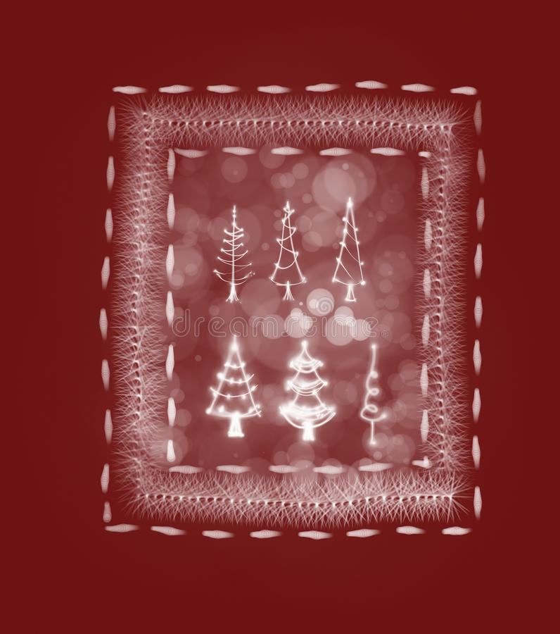 Украшение рождественской открытки стоковые изображения rf