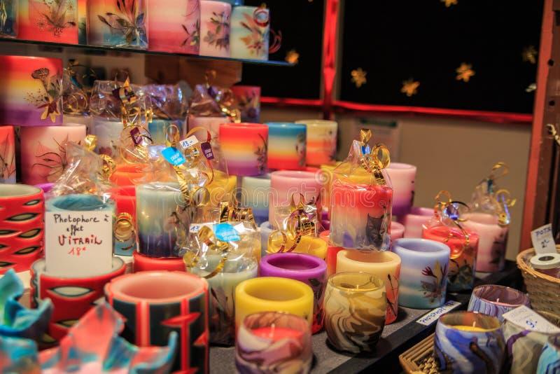 Украшение свечи рождества стоковая фотография