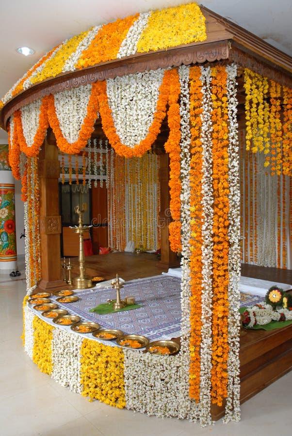 Украшение цветка свадьбы Кералы стоковые изображения rf