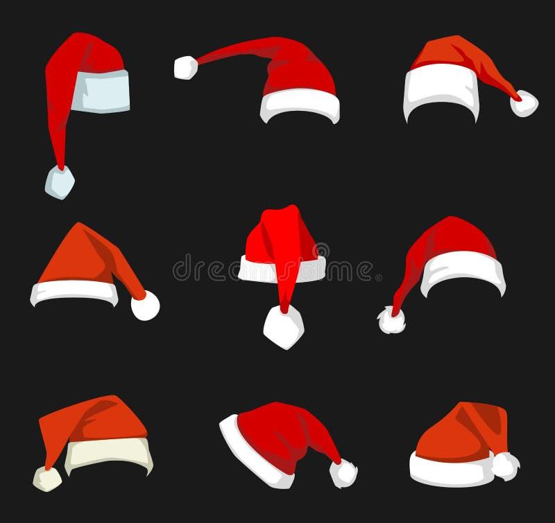 Украшение шляпы рождества иллюстрация штока