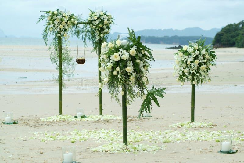 Украшение для свадьбы на пляже стоковая фотография rf