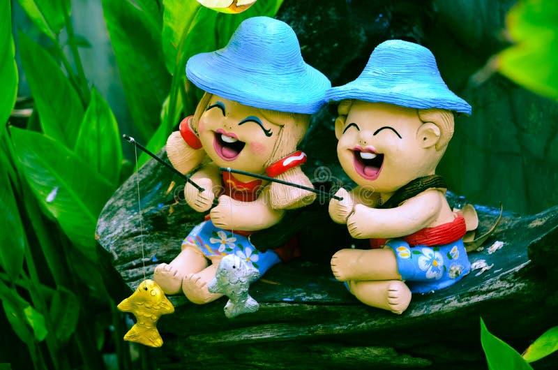 Украшение Smiley в саде стоковая фотография rf