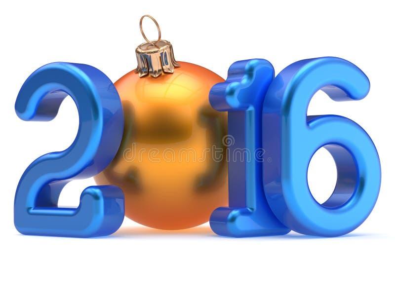 Украшение 2016 Xmas шарика рождества Новогодней ночи веселое иллюстрация вектора