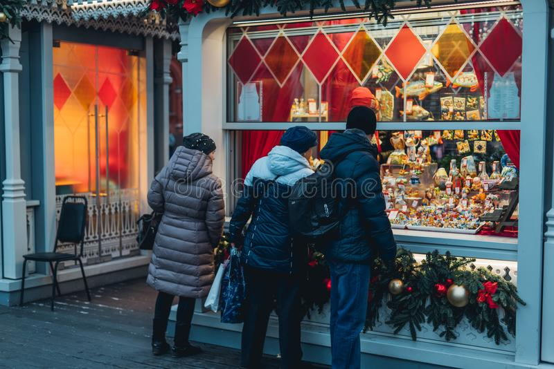 Украшения рождества в Москве стоковое фото