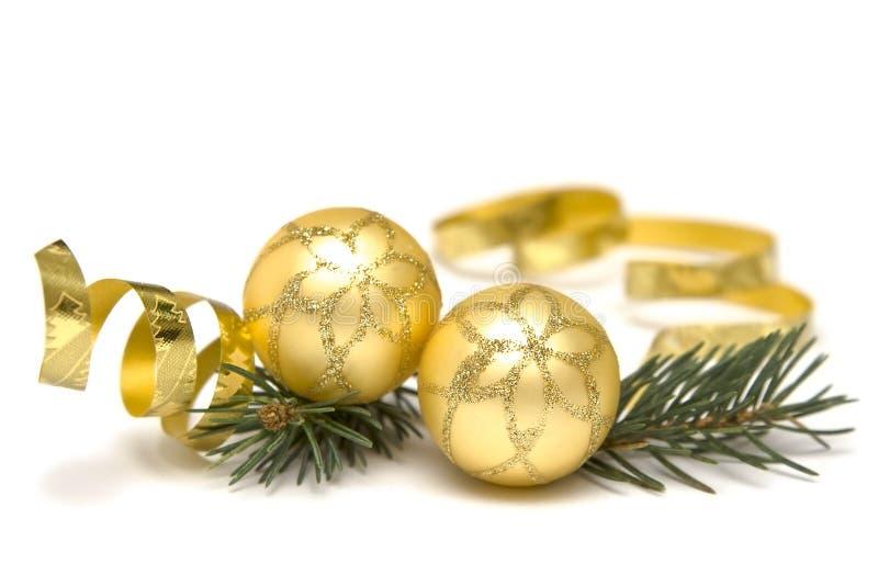 украшения рождества золотистые стоковые изображения rf