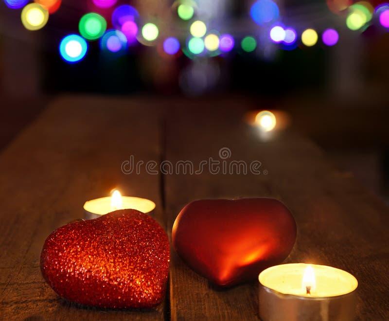 Украшения рождества с свечами и свечами стоковая фотография rf
