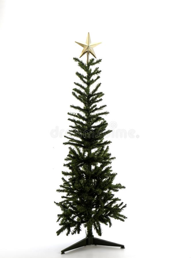 Украшения рождественской елки на белой предпосылке Конец-вверх стоковое фото rf