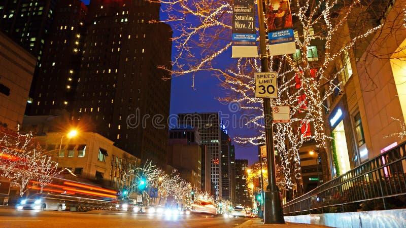 Украшения рождества, Чикаго стоковые фотографии rf