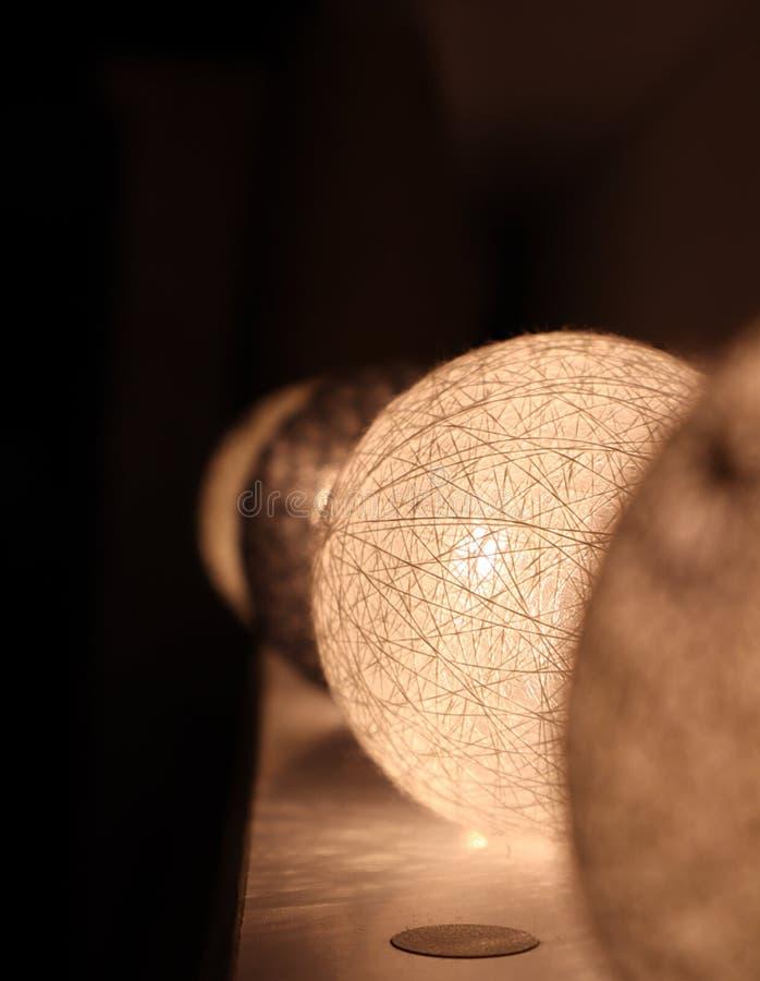 Украшения светов рождества домашние стоковые фото