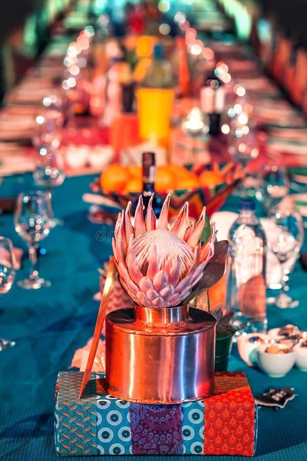 Украшения таблицы на гала-ужине стоковое изображение