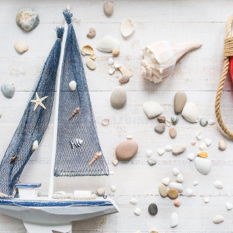 Украшения темы моря комнаты детей стоковое изображение