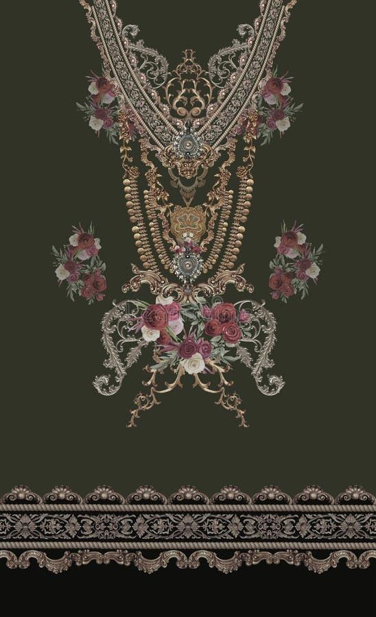 Украшения цветут дизайн роз красный черный стоковое фото