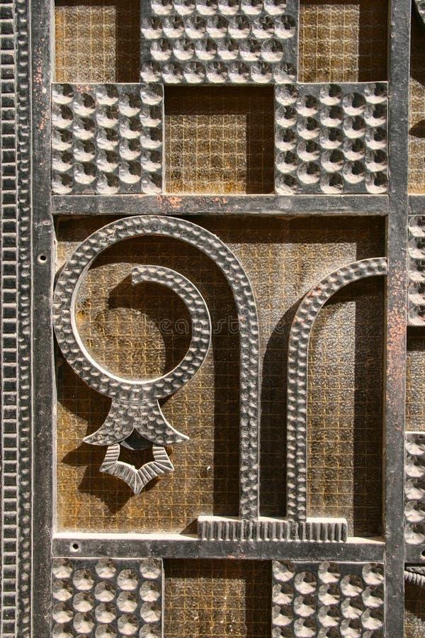 Украшенная дверь стоковое фото rf