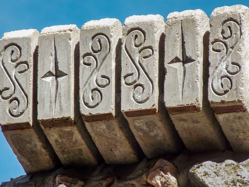 Украшенная конкретная часть крыши стоковая фотография rf