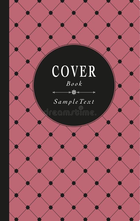 Украшенная обложка книги старого стиля, с решеткой звезды иллюстрация штока