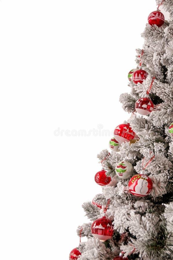 Украшенное дерево cristmas стоковые изображения rf