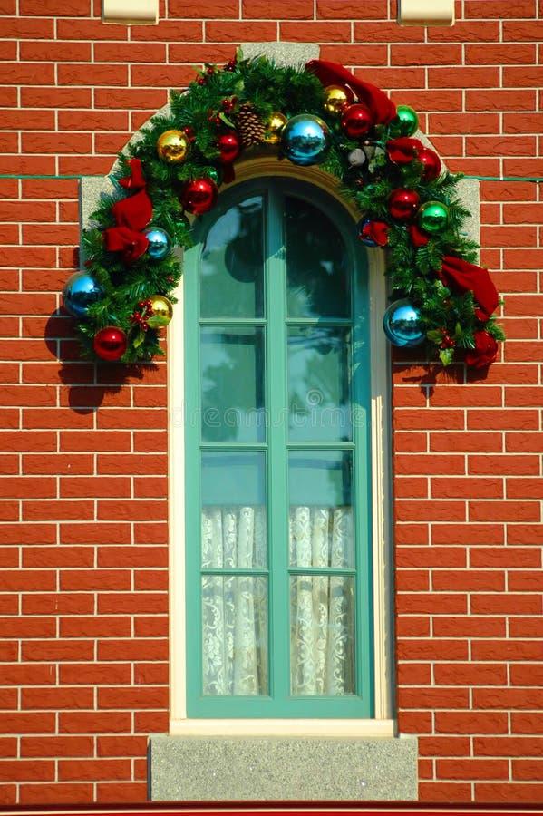 украшенное окно стоковое фото rf