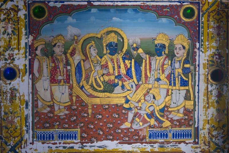 Украшенное Haveli в Mandawa стоковые изображения rf