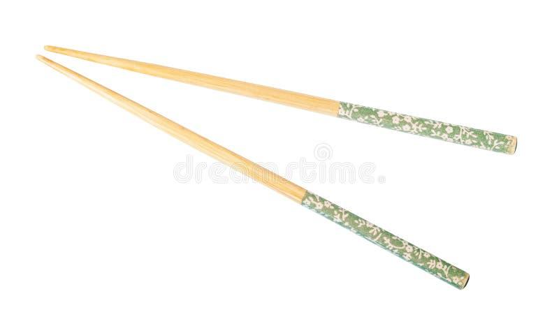 Украшенные деревянные палочки изолированные на белизне стоковые фотографии rf