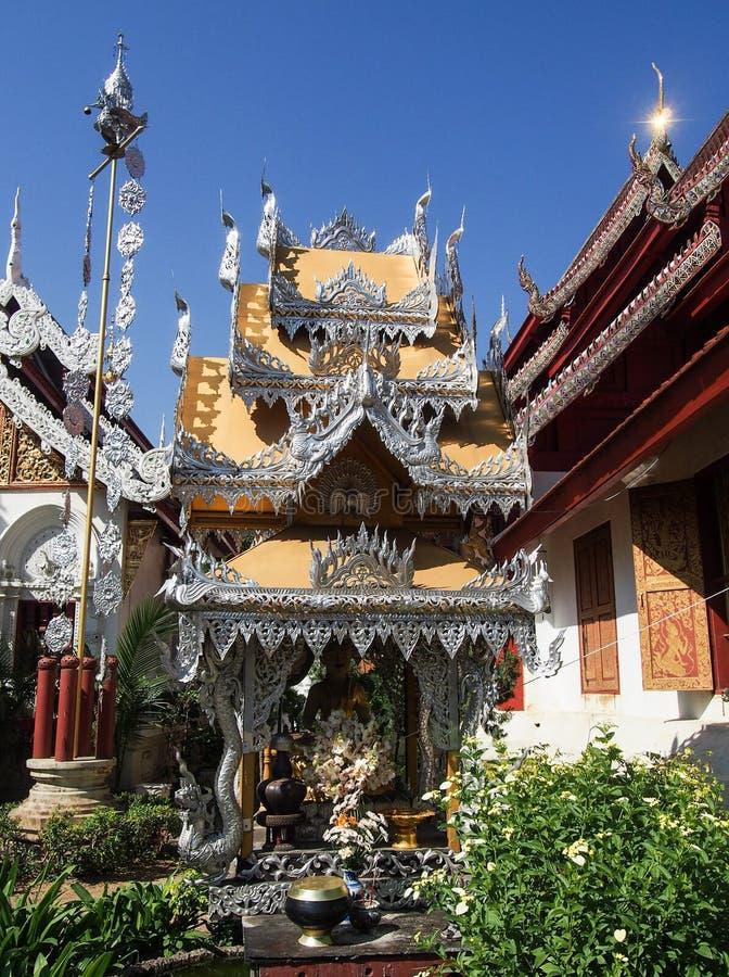 Украшенный висок в Чиангмае Таиланде стоковые фотографии rf
