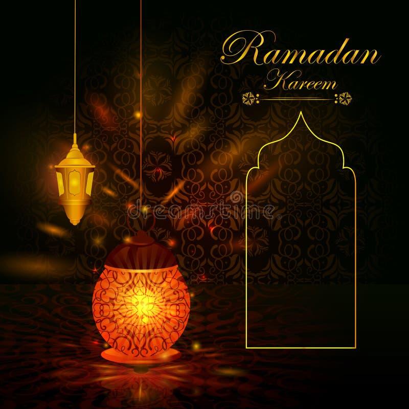 Украшенный исламский арабский флористический дизайн для предпосылки Рамазана Kareem на счастливом фестивале Eid иллюстрация штока