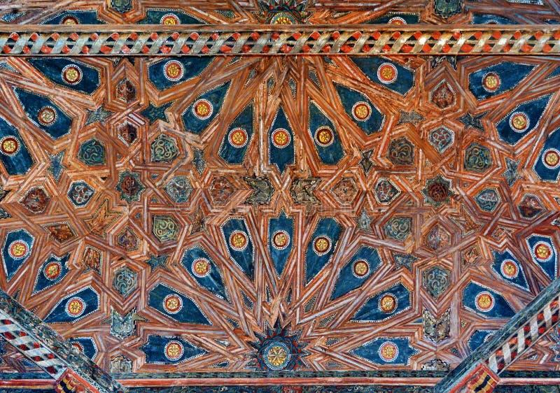 украшенный потолок стоковое изображение rf