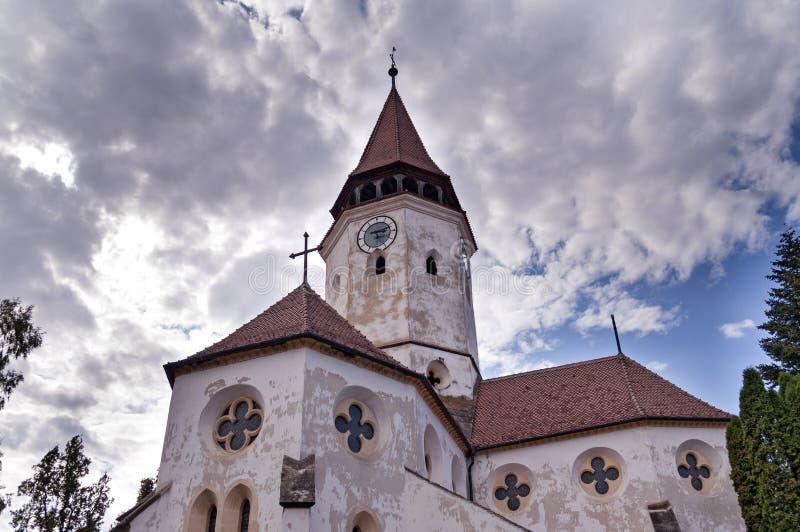 Укрепленная церковь в Transylvania, Румынии стоковая фотография
