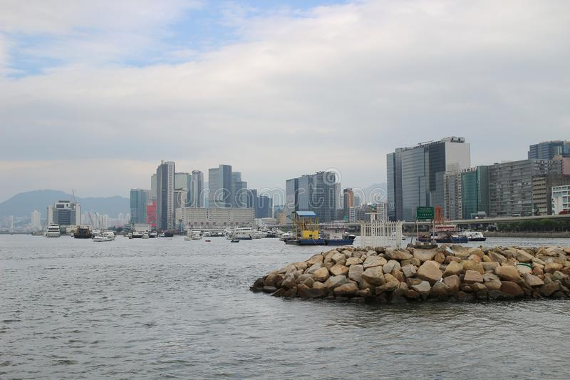 Укрытие тайфуна схвата Kwun на kwoloon hk стоковые изображения
