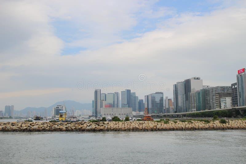 Укрытие тайфуна схвата Kwun на kwoloon hk стоковые фотографии rf